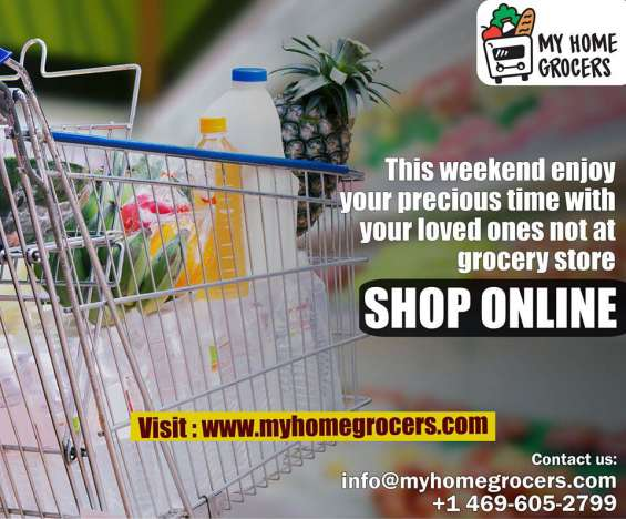 Myhomegrocers online grocery shopping with same day door delivery